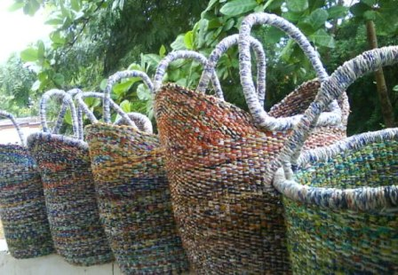 Recycled Bolga Baskets 1
