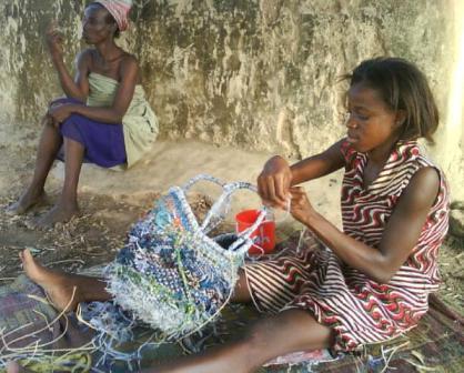 First cloth + plastic basket