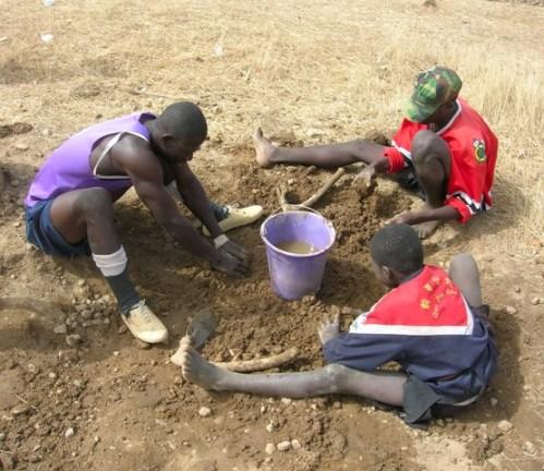 Making Mud Balls Ghana